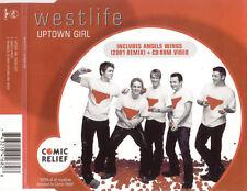 WESTLIFE UPTOWN GIRL 2 TRACK CD & VIDEO FREE P&P
