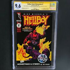 HELLBOY : SEED of DESTRUCTION #1 💥 7X SIGNED by MOVIE CAST! 💥 CGC 9.6 SS 1994