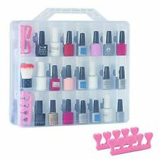 New 48 bottles universal clear nail polish organizer case holder for double side
