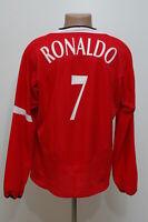 MANCHESTER UNITED 2004/2006 HOME FOOTBALL SHIRT NIKE #7 RONALDO XL LONG SLEEVE