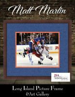 New York Islanders Signed Matt Martin Ranger Check  8x10 NEWLY CUSTOM FRAMED