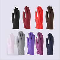 Ladies Short Wrist Gloves Smooth Satin For Party Dress Prom Evening Wedding Gift