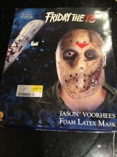Friday the 13th Jason Voorhees Foam Latex Mask House of Horror New Wear On Box