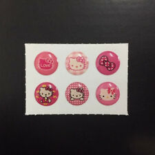 6 PCS Kitty Set 6 Home Button Sticker for iPhone 4 4S 5 6 iPad 2 3 4