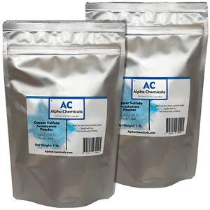 2 Pounds - Copper Sulfate Pentahydrate Powder - 99% Pure