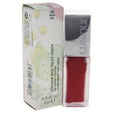 CLINIQUE Pop Liquid Matte Lip Colour + Primer 6ml 02 Flame Pop BRAND NEW