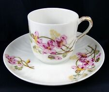 Vintage Muy Bonita Taza Y Platillo De Porcelana De Limoges