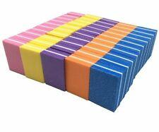 Mini Nail File Blocks Colorful Sponge Nails Polish Sanding Buffer Manicure Tools
