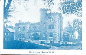 Nashua New Hampshire Cyanotype Postcard 1905 The Armory MU