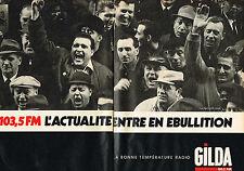 PUBLICITE ADVERTISING 015  1985  GILDA  radio 103.5FM  ( 2 pages)