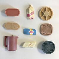 Vintage Kitchen Refrigerator Fridge Magnet Lot 80s Dart Ind Tupperware Food 9 3D