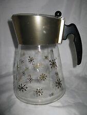 Vintage Retro Douglas Flameproof Glass Coffee Pot Snowflake Pattern