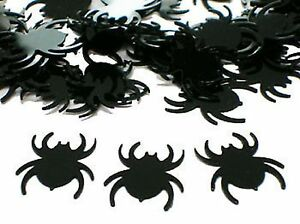 Spider Scatters Confetti - Black Plastic 28g pk - Halloween Party Supplies