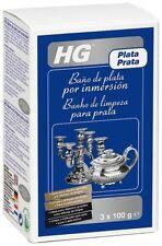 HG LIMPIADOR METAL PLATA PLATEADO INMERSIÓN EN BAÑO 3x100g MADRID FERSAN