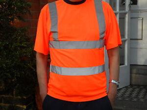Hi Vis Orange T Shirt conforms to EN471 Class 2 and GO/RT 3279