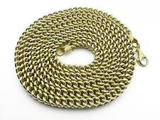 10K Yellow FRANCO SEMI HOLLOW GOLD CHAIN Approx. Gold wt. 49.23GM-5.50MM-34 long