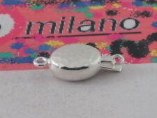 1 CHIUSURA OVALE  MARTELLATA ARGENTO 925 MADE ITALY  CHIUSURA X 1 FILO