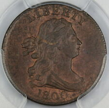 1800 Draped Bust Half 1/2 Cent PCGS MS-63 BN (Mellowed Red) Better Coin DGH