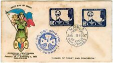 Philippine REGIONAL CENTENARY WORLD CAMP Homes of Today & Tomorrow 1957 FDC