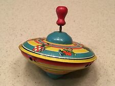 Vintage Tin Toy Spinning Top Girl Dog Hobby HOrse Jack In Box Fun