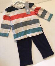 SPLENDID Baby Boy Stripe Long Sleeve Shirt Pant Set Sz 6-12M New NWT