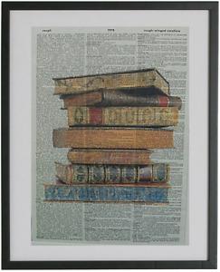 Books Print No.115, book stacks, library books