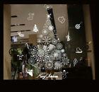 Christmas Window Stickers Xmas Santa Removable Art Decal Wall Home Shop Decor Uk