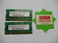 Micron 512MB (2x256MB) PC2-3200S DDR2 400MHz Memory RAM Laptop