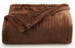Soft Velvet Plush Brown Throw Burgundy Blanket Large Wrap Orange Lounge Cover