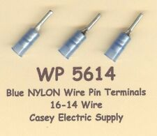 25 Blue NYLON Insulated WIRE PIN Terminal Connectors #16-14 Wire Gauge AWG MOLEX