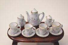Dolls House Miniature 4 Person China Tea Set 1 12 Scale Delicate Rose Design