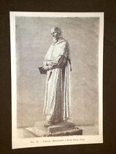 Rara veduta di Venezia di fine '800 Monumento a Frate Paolo Sarpi