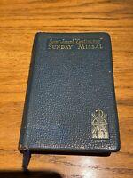 "1957 St. Saint Joseph ""Continuous"" Sunday Missal Scarce BLUE cover w/ Gold Edges"