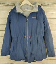 Columbia Chatfield Hill Hooded Anorak Winter Jacket Water Repellent Blue Large