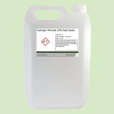 Peróxido de hidrógeno 12% de alimentos grado 5 litros (5L)