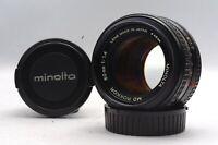@ Ship in 24 Hours! @ Excellent! @ Minolta MD Rokkor 50mm f1.4 MF Prime Lens