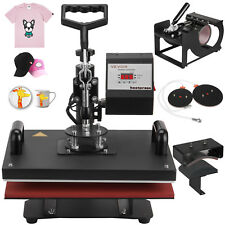 5in1 T-Shirt Heat Press Machine 30x38cm Transfer Sublimation Cup Plate Printing