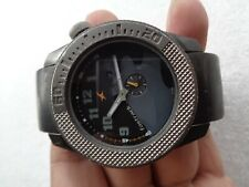 RARE BLACK DIAL FASTRACK BY TITAN INDIA WATCH SIDE SECOND MENS QUARTZ WRISTWATCH