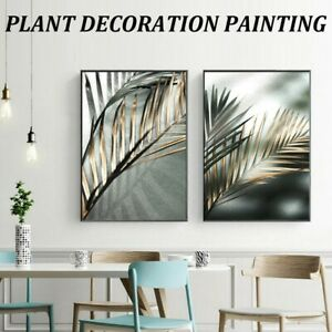 Green Plant Leaf Picture Modern Fresh Poster Home Decor Wall Art Canvas