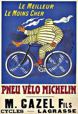 ART AD Pneu Velo michelin man Pneus Pneus DECO Poster Print
