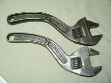 Pair of Vintage S Handle Adjustable Wrenches - Westcott, Bemis & Call