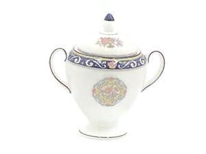 Wedgwood Runnymede Blue Sugar Bowl with Lid
