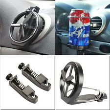 2-IN-1 Universal Car Air-Outlet Folding Cup Bottle Drink Holder with Fan Black
