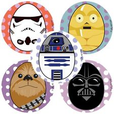 Star Wars Easter Stickers x 5 - R2D2, Yoda, Vader - Easter Hat Decorations Fun