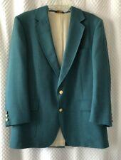 Adams Row Sport Coat Jacket Blazer 44R Teal Green Masters Gold Buttons