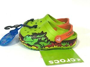 Crocs Lights Ups Fire Dragon Clogs boys size 6 NEW