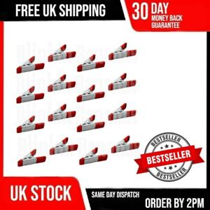 16 RED MINI CLIPS SMALL METAL SPRING CLAMP GRIP TARP SET CRAFT MODEL MAKING HOLD