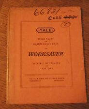YALE WORKSAVER ELECTRIC LIFT TRUCK MODEL M6DP27-48 PARTS LIST & DIAGRAMS