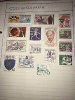 15 Czechoslovakia Stamps -   Lenin centenary / Brno / horses