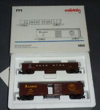 Märklin Güterwagen Set Alaska USA Box Car ARR & Gondola Canadian NR in OVP 4860